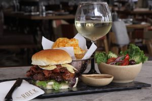Bacon & Brie Burger - Lunch or Diner